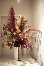 Trockenblumenarrangement in KPM Vase für The Interiors Club Event / THG Paris / Lalique / KPM Berlin